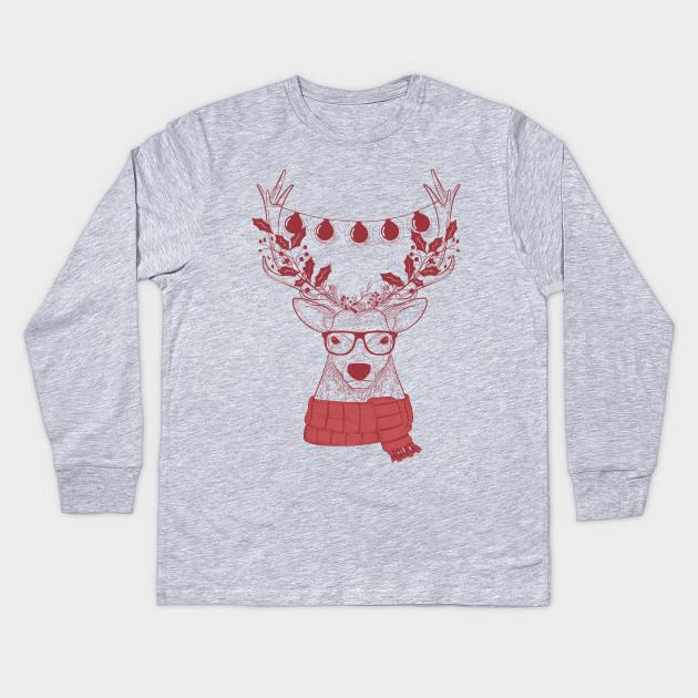 Christmas Shirt.Hipster Christmas Shirt Reindeer Christmas T Shirt Christmas Gifts For Hipsters