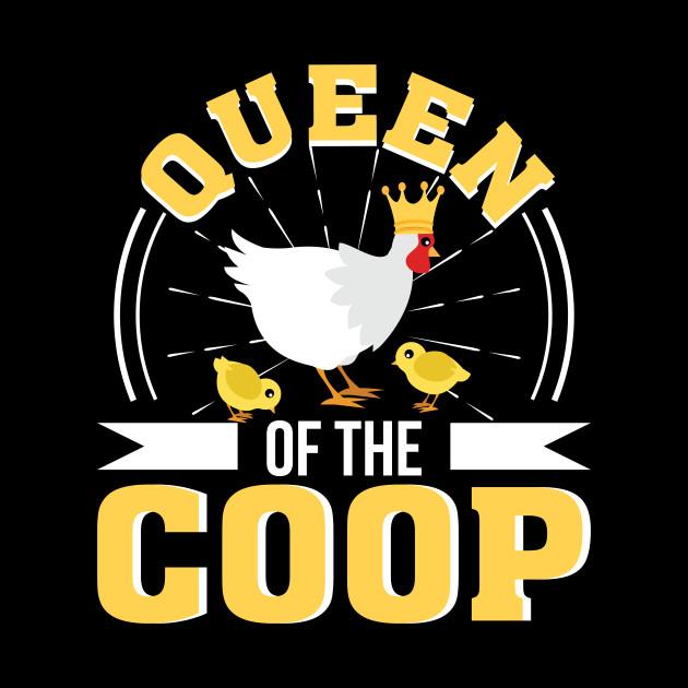 Cuscini Coop.Queen Of The Coop Funny Chicken Women Funny Chicken Women Gift