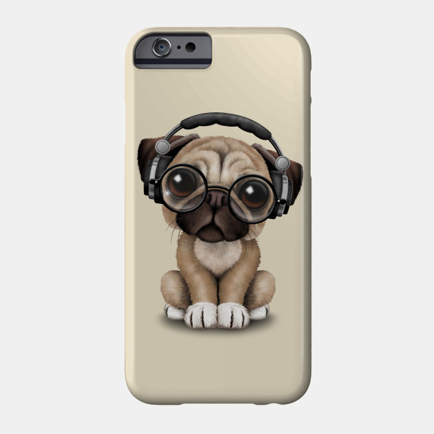new arrival d8fce d7c43 Cute Pug Puppy Dj Wearing Headphones and Glasses
