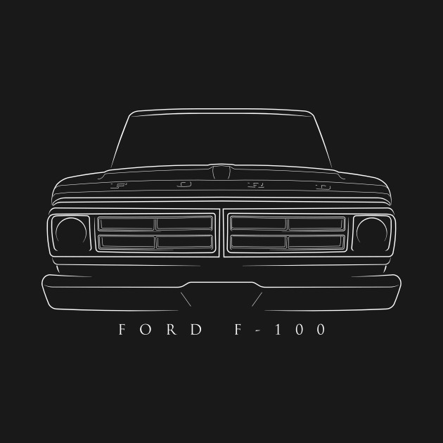1971 Ford F-100 - front stencil, white