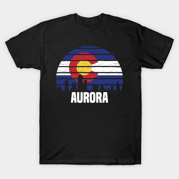 Aurora Colorado CO Group City Silhouette Flag Gift