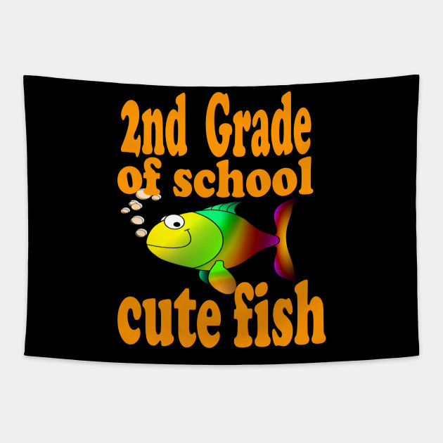 2nd Grade of School Gift Cute Fish