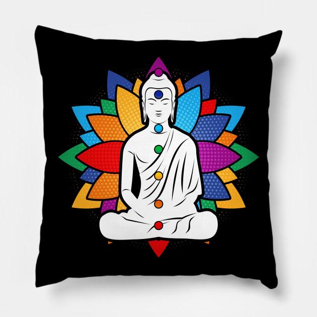Buddha Chakra Meditation Buddha Pillow Teepublic