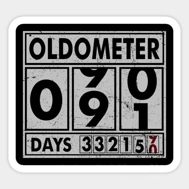 OLDOMETER 91 Years Old Made In 1927 91st Birthday Sticker