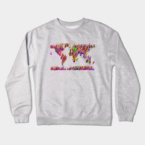 Maps crewneck sweatshirts teepublic world map music notes crewneck sweatshirt gumiabroncs Image collections