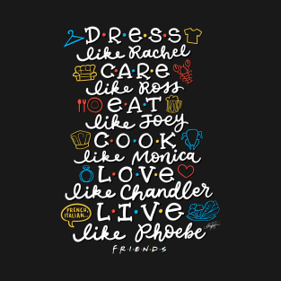FRIENDS TV Characters t-shirts