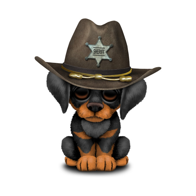 Cute Doberman Puppy Dog Sheriff