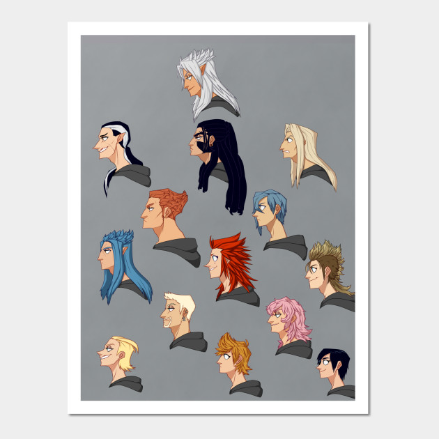 Organization XIII Side Profiles