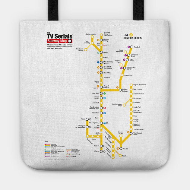 Subway Map Line 2.The Tv Serials Subway Map Yellow Line 2 Comedy Series