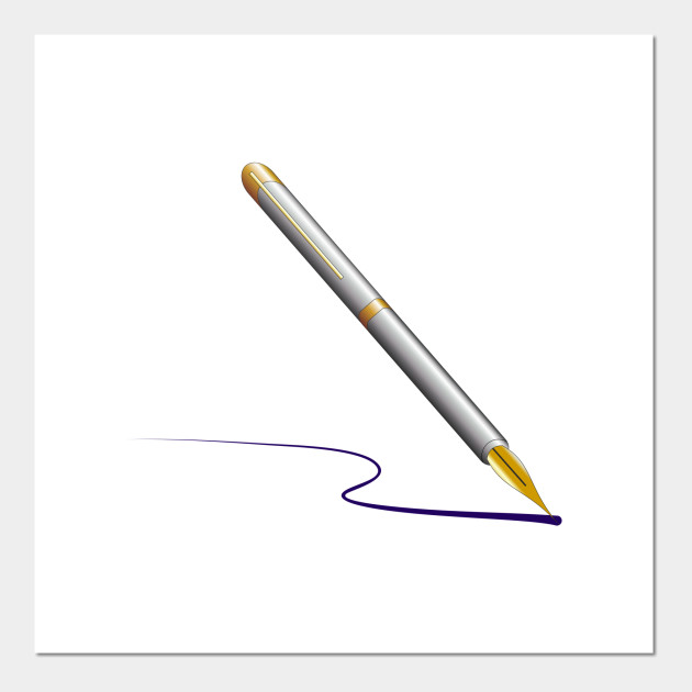 Limited Edition Exclusive Fountain Pen With Ink Fountain Pen With Ink Posters And Art Prints Teepublic Au