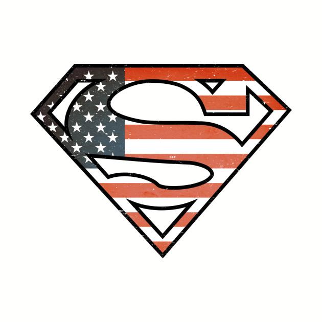 SUPERMAN SHIELD - American FLAG