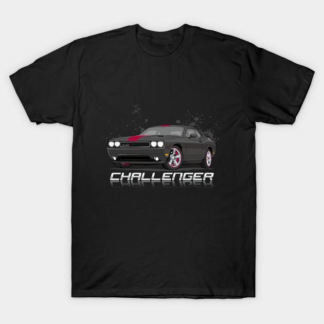 Dodge Challenger T-Shirt V1 Black
