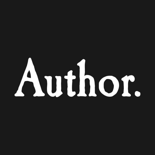 Author. white text