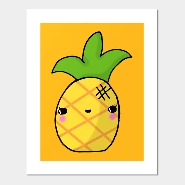 Kawaii Cute Pineapple Tropical