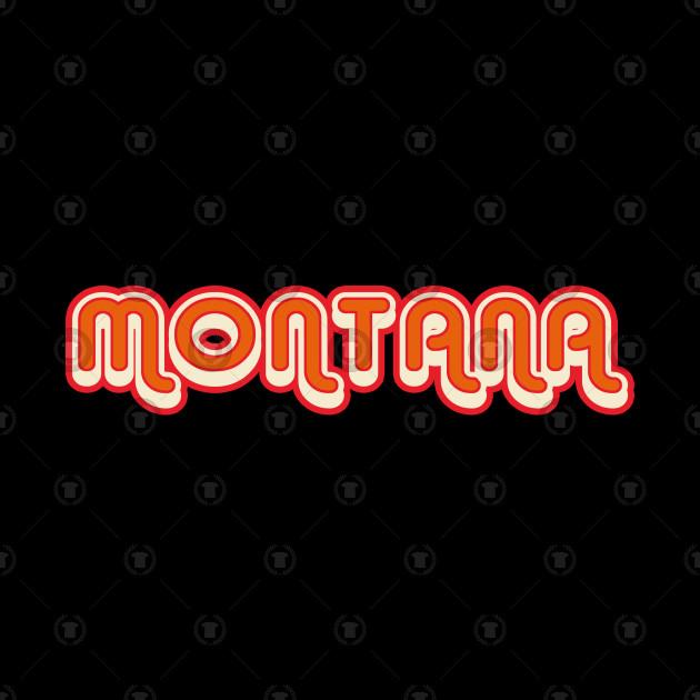 Montana retro 70s vintage graphic with shadow