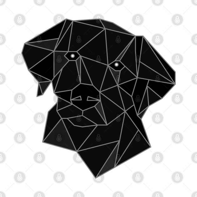 Labrador Black Stained Glass