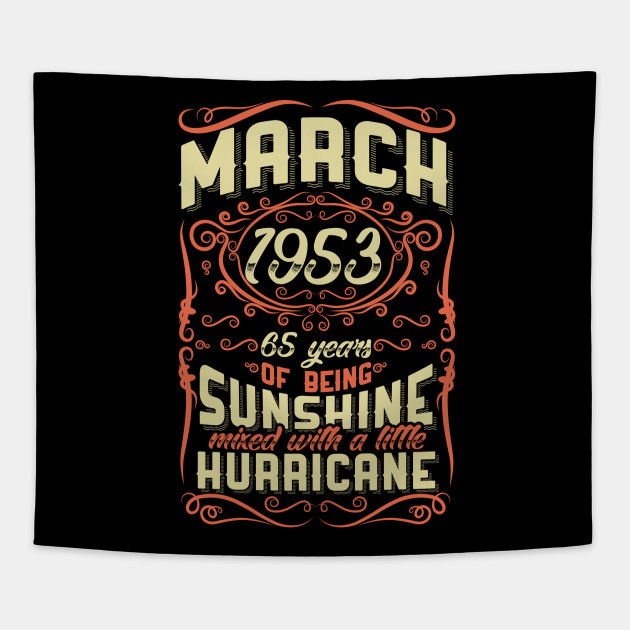 March 1953 65th Birthday Gift Tapestry