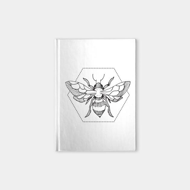 675afb3f Pen & Ink Bee Tattoo - Bees - Notebook | TeePublic