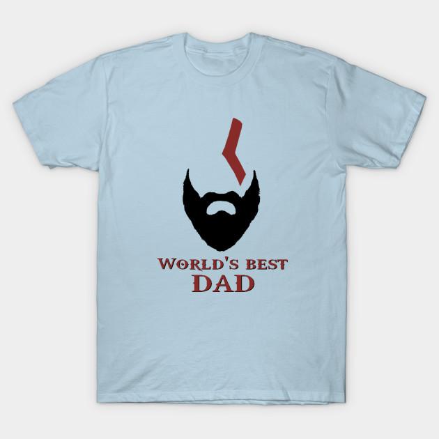 1842365e World's Best Dad - God Of War - T-Shirt | TeePublic