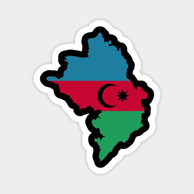 Azerbaijan Map Flag Azerbaijan Magnet Teepublic Au