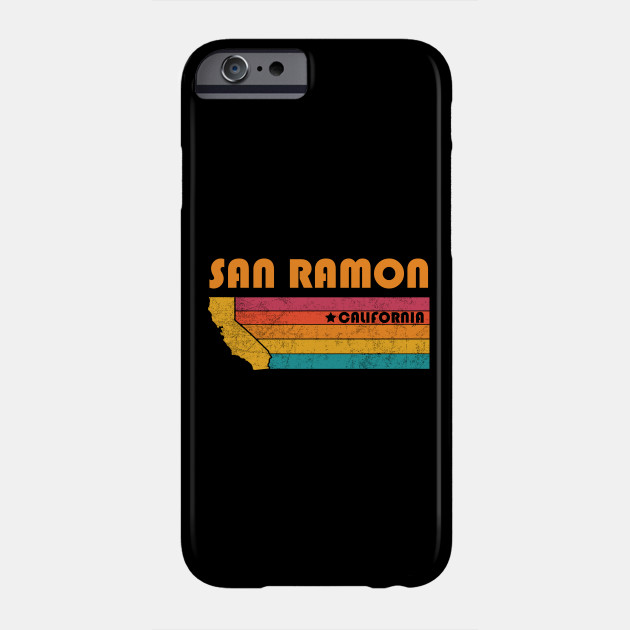 San Ramon California T-Shirt Vintage City Retro Souvenir US State  Silhouette Lover Gift With Star