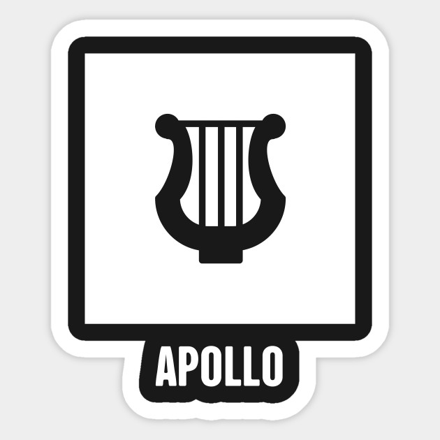 Apollo Greek Mythology God Symbol Greek Mythology Sticker