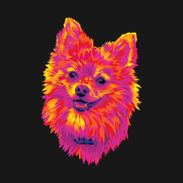 Cute Pomeranian Puppy Dog Digital Painting
