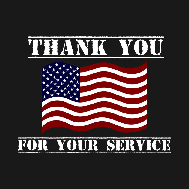 Thank You For Your Service American Flag Veterans Day Shirt
