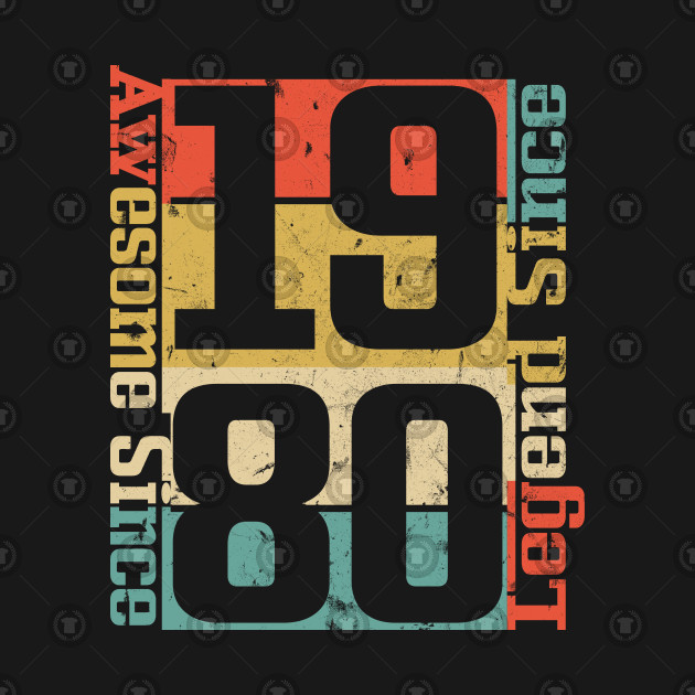 38th Birthday Shirt, Awesome Since 1980 Funny Gift Idea