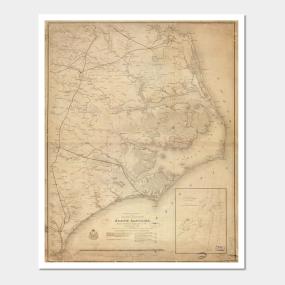 North Carolina Map Posters and Art Prints   TeePublic