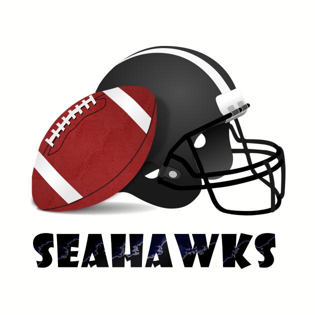 Seahawks Football Skyline T-Shirt