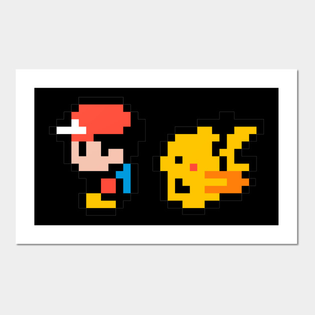 Pokemon Yellow Ash And Pikachu Pixel
