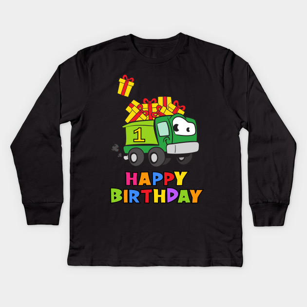 1st First Birthday Party 1 Year Old One Kids Long Sleeve T Shirt