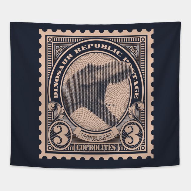 Dinosaur Republic Postage Stamp - Tyranosaurus