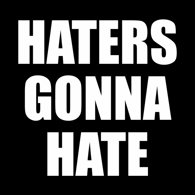 Haters Gonna Hate Funny Saying Funny Quote Haters Pillow Teepublic