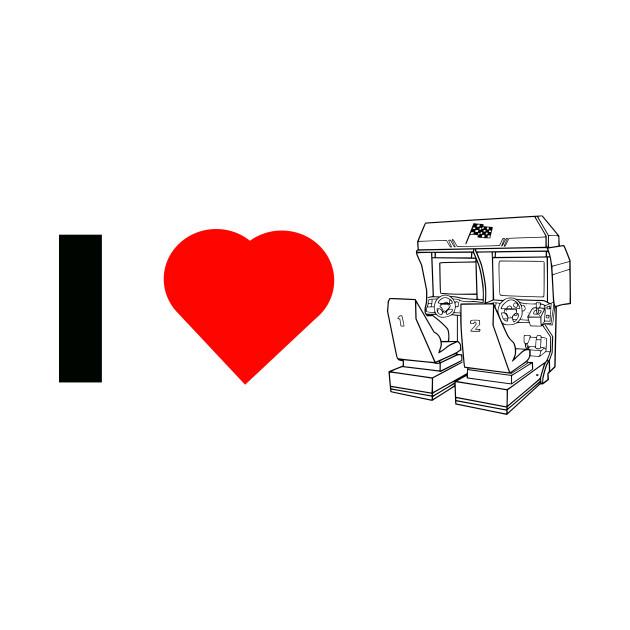 I 'Heart' Arcades -Sitdown Racer Edition