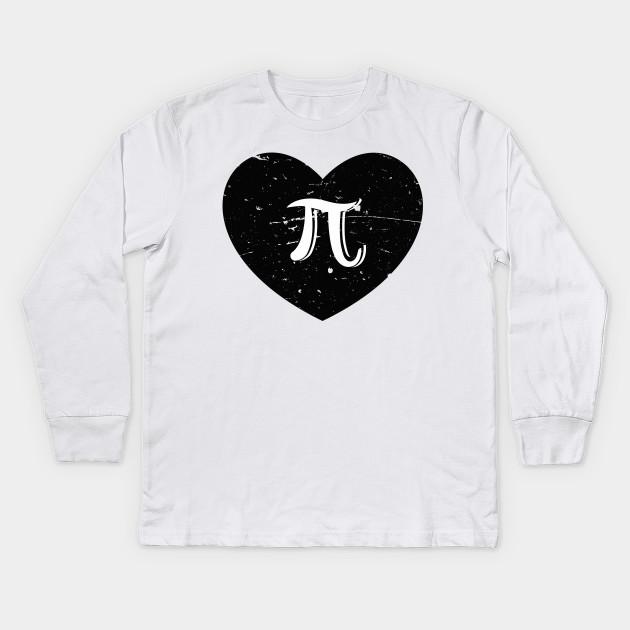 7efd865a I Love Pi Shirt, Funny Cute Math Nerd Teacher Pi Day Gift Kids Long Sleeve T -Shirt