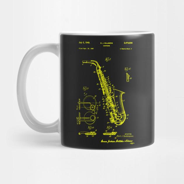 a0172bd6337de Saxophone Patent Print T Shirt, Patent Prints, Patent Art, T Shirt Vintage,  Blueprint Art by yellowpatent