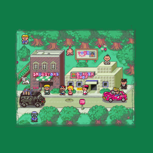 Earthbound Town t-shirts