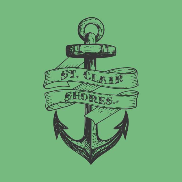 St Clair Shores Anchors Away City T Shirt Teepublic