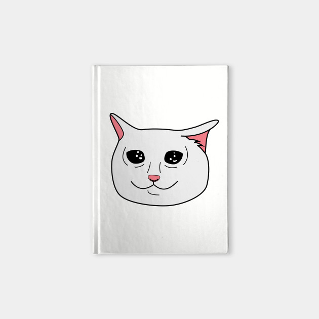 Crying Cat Meme Cat Notebook Teepublic