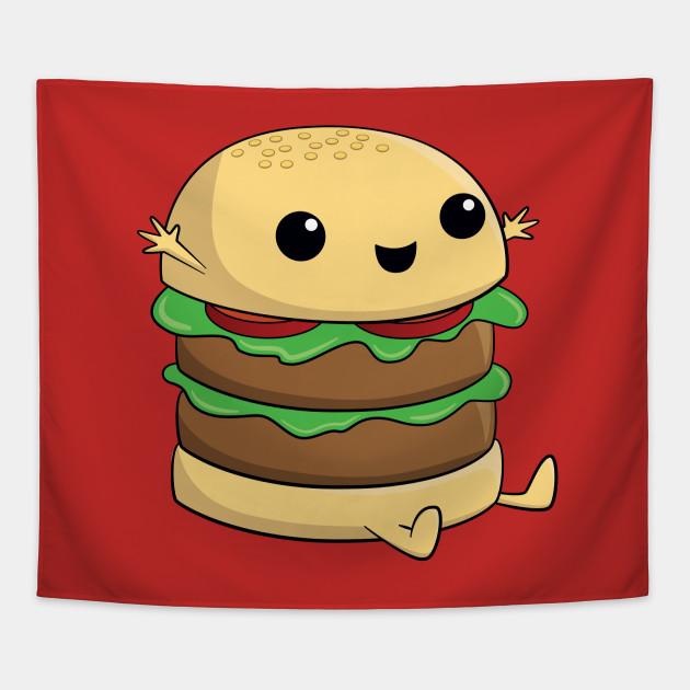 Cute, Kawaii, Cartoon Burger