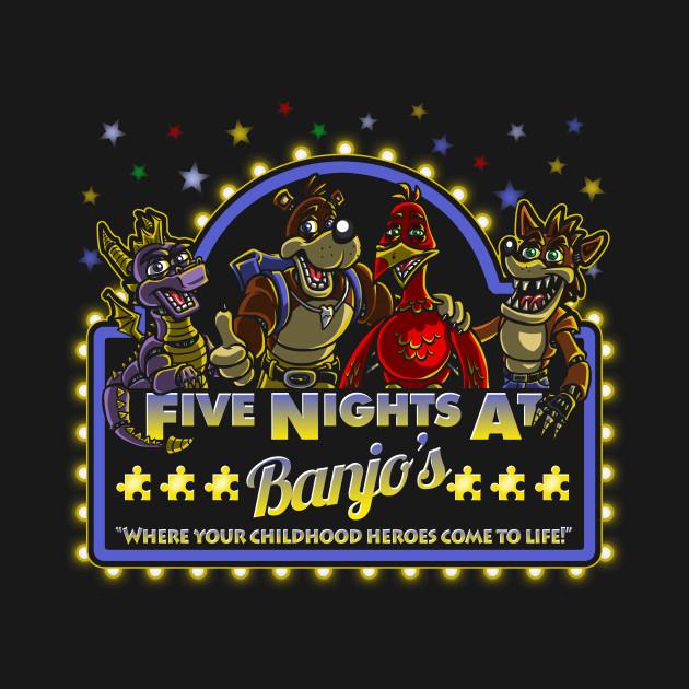 Five Nights At Banjo 39 S Banjo Kazooie T Shirt Teepublic