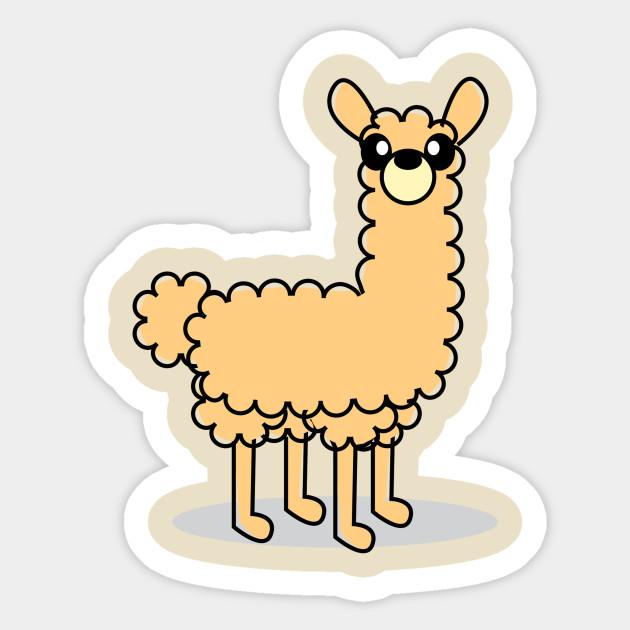 Cute llama character sticker cute llama character cute llama character 1242417 1