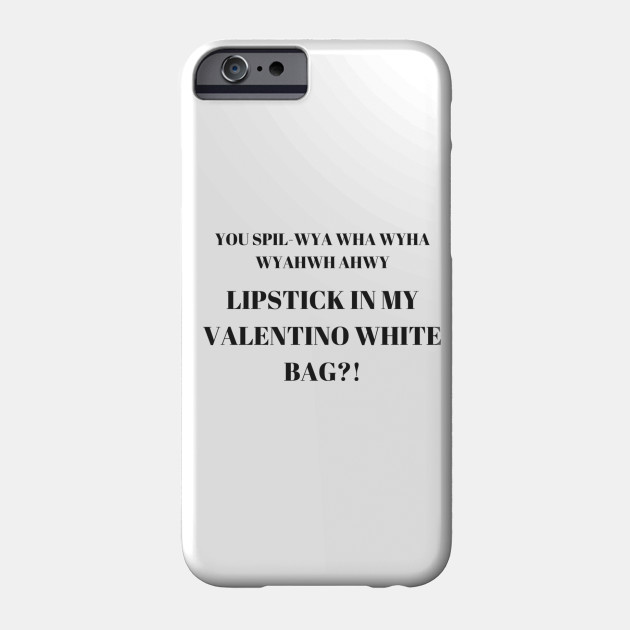 dad49717d671 LIPSTICK IN MY VALENTINO WHITE BAG - Vine - Phone Case