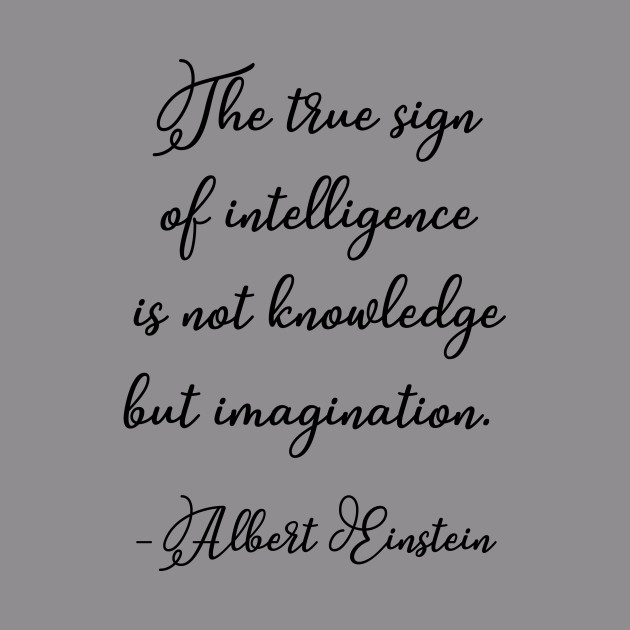 The True Sign Of Intelligence Einstein Einstein Quote Hoodie