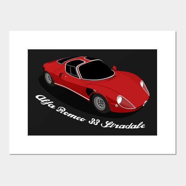 Alfa Romeo Stradale Alfa Romeo Posters And Art Prints TeePublic - Alfa romeo posters