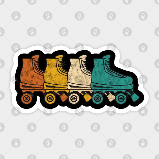 Vintage Roller Skating Roller Skate Sticker Teepublic