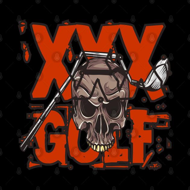 Cross Golf Skull and golf club