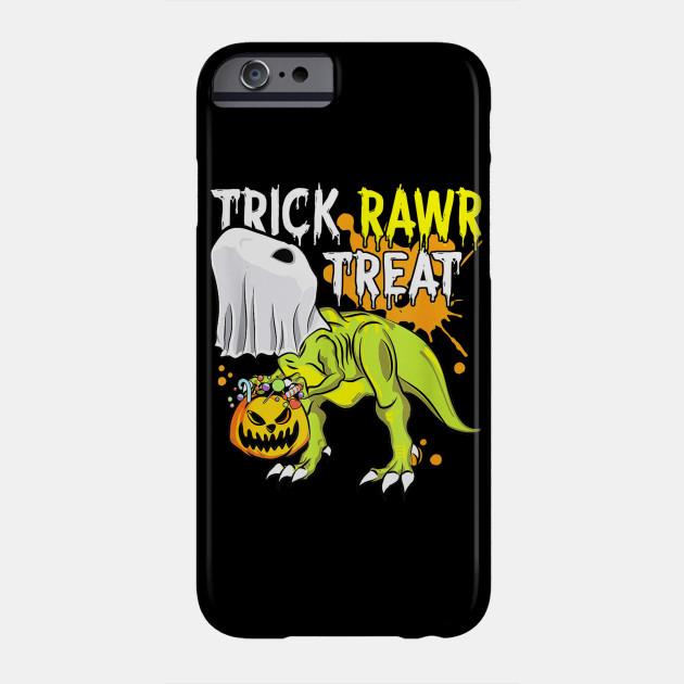 Halloween Dinosaur Ghost Pumpkin Gift Boys Trick Rawr Treat Phone Case